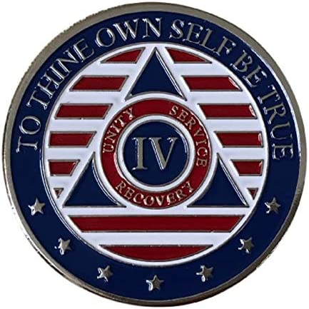 4 Year Alcoholics Anonymous Chip Ranking TOP19 Directly managed store 7th Prayer Back on w Step Coin