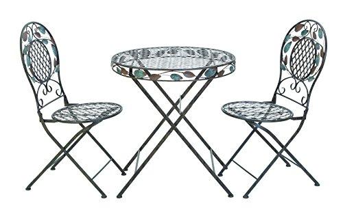 Hot Sale UMA Enterprises 63325 3-Piece Metal Bistro Outdoor Dining Set, 29 by 27-Inch