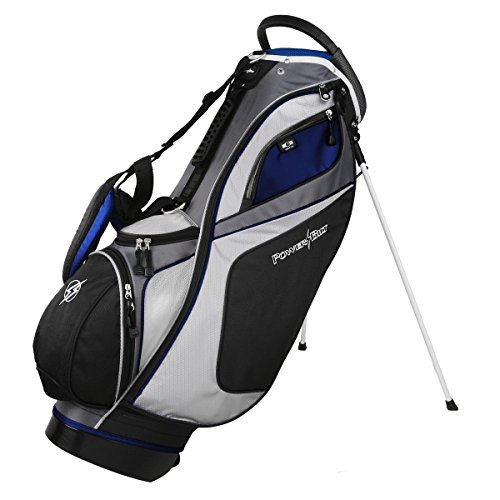 Powerbilt TPS Dunes 14-Way Black/Blue Stand Golf Bag (Black/Blue)