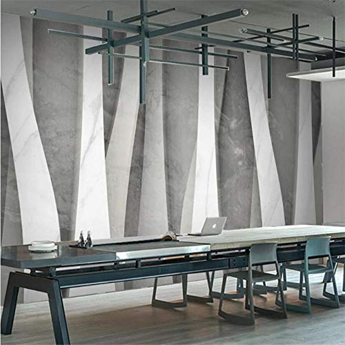 FWDDDEB Fototapeten Wandtapeten Selbstklebend Vlies 350X256 Cm (Wxh) 3D Stereoscopic Grey Geometric Pattern Fototapete Modern Restaurant Store Industriedekor Hintergrund Wallpaper 3D Büro Wohnzimmer
