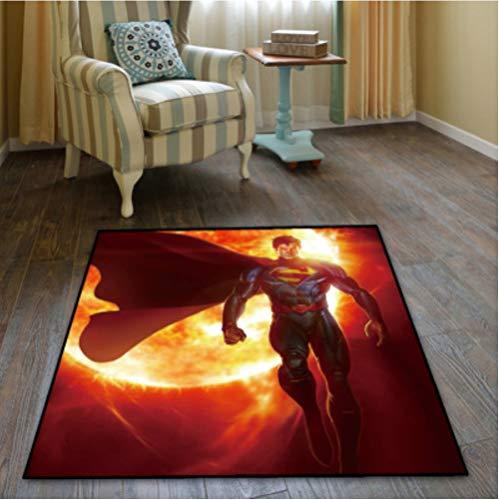 chengcheng DC Comics Justice League Alfombra Dormitorio Sala de niños Vestíbulo Alfombra Antideslizante Silla de Piso Pad Drum Pad 180x180cm