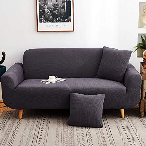 Jonist Funda de sofá elástica, Antideslizante Funda de sofá Todo Incluido Four Seasons Protector de Muebles de Cubierta Completa Universal para sofá de Cuero de Tela Plateado de 3 plazas