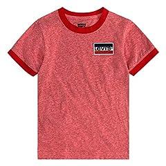 Levi's Basic T-Shirt Camiseta para Niños Hilo Super Red Snow