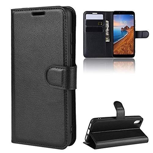 Capa Capinha Carteira 360 Para Xiaomi Redmi 7a De Tela 5.45Polegadas Case Couro Flip Wallet - Danet (Preta)