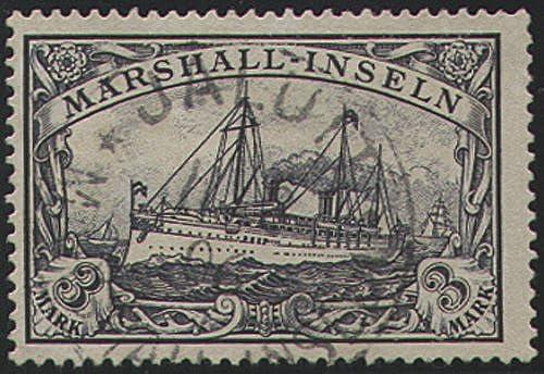 Goldhahn Marshall-Inseln Nr. 24 gestempelt geprüft Briefmarken für Sammler