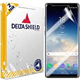 DeltaShield Screen Protector for Samsung Galaxy Note 8 (2-Pack)(Case Compatible Design) BodyArmor Anti-Bubble Military-Grade Clear TPU Film