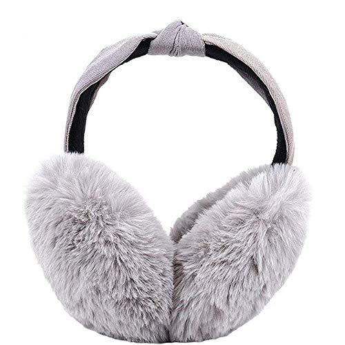 Womens Winter EarmuffsWenMei Soft Warm Ear Warmers Foldable Ear Muffs Headbands Outdoor Earmuffs for Womens Girls Grey