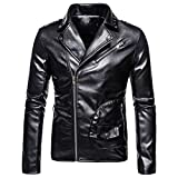 NP Moto Bomber Giacca In Pelle Uomini Autunno Turn-Down Collare Slim fit Maschio Giacca In Pelle Cappotti Plus Size 2 M
