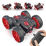 Voiture Telecommande RC - 4WD Stunt Car Durable, Rotation à 360 Degrés Intéressant Camion Radiocommandée, Voiture Jouet Cadeaux pour Enfants de 4 à 12 Ans, Rouge