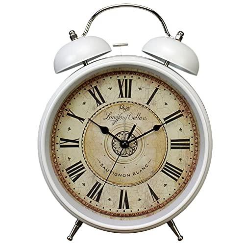 Despertador Reloj Despertador Retro Mesa De Noche De 8 Pulgadas Reloj Digital Hogar Dormitorio Mesa De Decoración para Niños