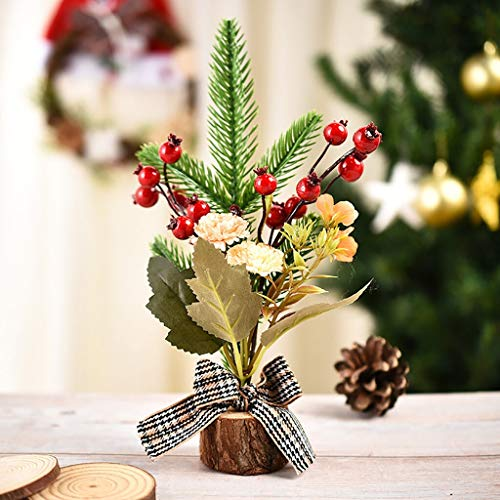 HYAN Christmas tree Wooden PET Multi-style Window Gift Christmas Small Christmas Ornaments Tree Deco Xmas Gift New Year Pencil Tree (Color : Yellow)