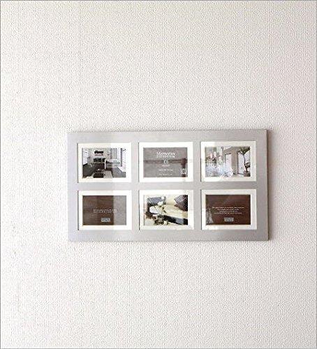 写真立て6枚6面シンプルモダンおしゃれ多面複数壁掛け6アルミフォトフレーム6ウィンドー[uwr5941]