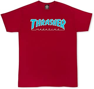 Thrasher Outlined Short Sleeve T-Shirt - Cardinal