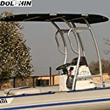 Dolphin Pro S2 T-TOP Black Canopy, Anodized Aluminum for Center Console Fishing Boats