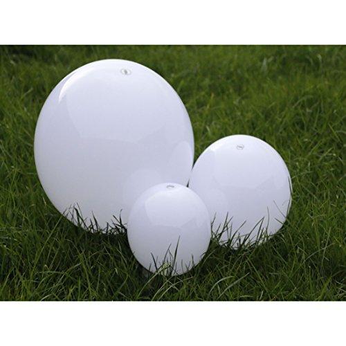 Solarleuchten-Set Kugeln zum Stecken Garten Outdoor 3 Stück in 20cm/25cm/30cm