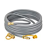only fire 24 Feet Natural Gas Hose with 3/8' Male Flare Quick Connect/Disconnect for Most Grill, Fire Pit, Patio Heater and More