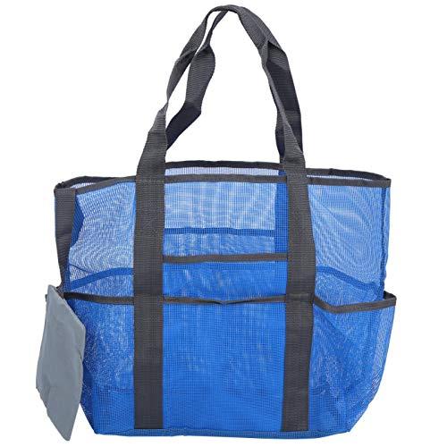 DAUERHAFT Organizador para Exteriores Reutilizable 8 Bolsillos Grandes, para Playa o Piscina, para Exteriores(Blue)