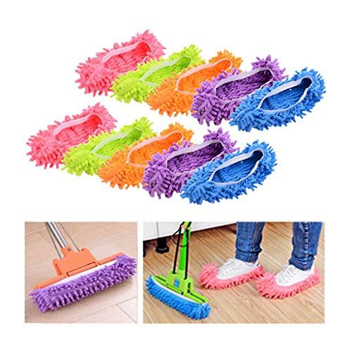 Zapatillas de microfibra para limpiar el polvo y la suciedad