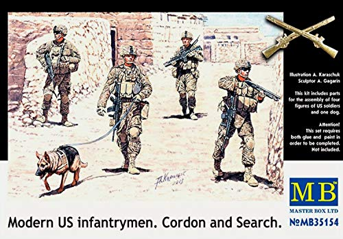 Master Box Modern US Infantrymen, Cordon and Search 1:35 Scale Military Model Kit