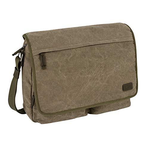 camel active, Messenger Bag, Herren, Umhängetasche, Arbeitstasche, Business Tasche, Schultertasche, Molina, Khaki