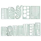 12pcs righello set righelli di classificazione a forma di curva, per modelli di cucito modello di disegno righello mobili per ufficio