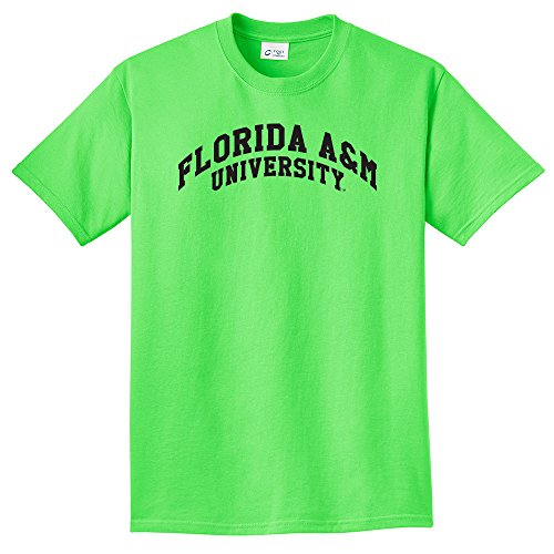 Campus Merchandise NCAA Jungen T-Shirt Arch, Unisex, neon Green, Small