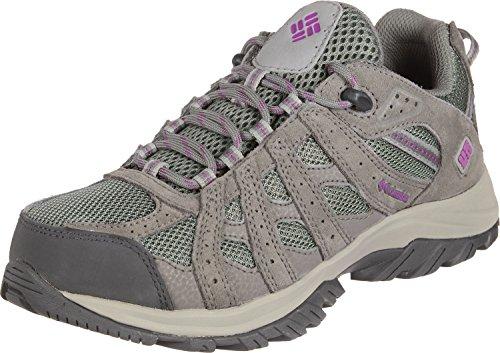 Columbia Canyon Point, Zapatillas de Senderismo Mujer, Gris, Violeta (Charcoal, Intense Violet), 37.5 EU
