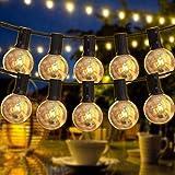 LEDストリングライトAnting イルミネーションライト 防雨型 E12ソケット 23個 エジソン電球*25個 16M 連結可能 2200k 電球色相当 クリスマス 結婚式 パーティー電飾(2Pack)