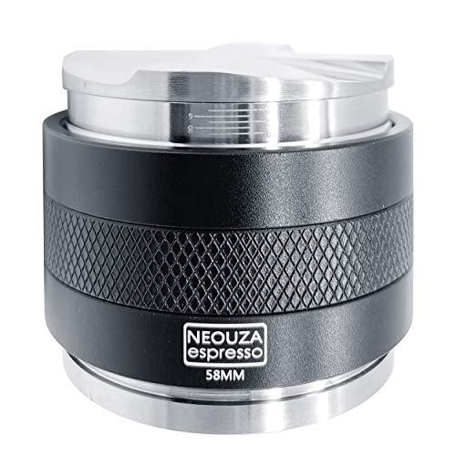 NEOUZA 58mm skala kalibracji laserowej Dystrybutor kawy i sabotaż 2 w 1, podwójna głowica poziomująca do espresso pasuje do maszyn grupy E61 Portafilter, regulowana głębokość