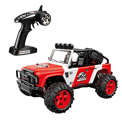 SZJJX RC Cars, 45KM/H+ High Speed Racing Remote Control Monster Trucks 1/22 Scale 4WD 2.4Ghz Radio Controlled Off-Road Vehicle Rock Crawler Fast Electric Desert Buggy SJ1511 (Red)