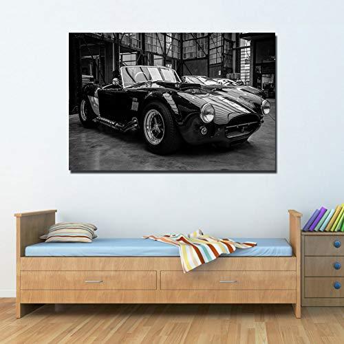 QAZEDC Decoratieve schilderijHD prints Home decor Canvas poster Klassieke Super Auto Poster Schilderen Muur Art Modulaire fotolijst voor woonkamer 60x80cm