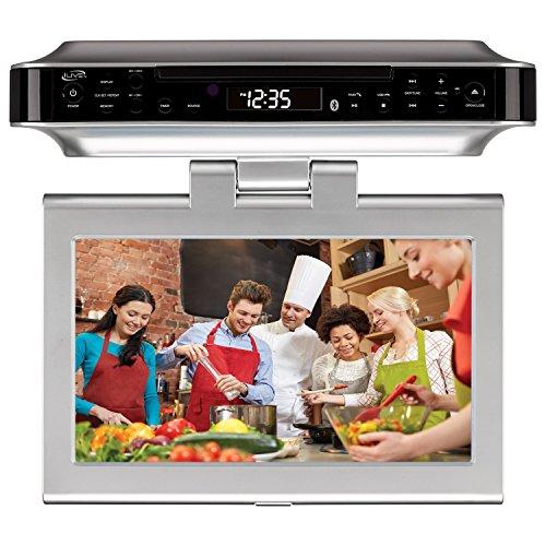 iLive Bluetooth Wireless Under The Cabinet Kitchen DVD/CD Player Clock Radio