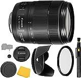 Canon EF-S 18-135mm f/3.5-5.6 is USM Lens UV Filter + Reversible Tulip Lens Hood + Lens Pen + Lens Cap Keeper + Cleaning Cloth - 18-135mm is USM - International Version (1 Year AOM Warranty)