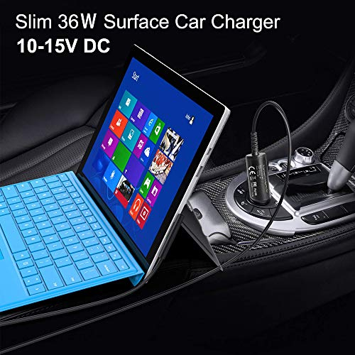 KFD 12V KFZ Netzteil Autoladekabel für Microsoft Surface pro 4, Surface Pro 3, Auto Ladegerät Microsoft Tablet in-car charger Autolader Surface Pro 4 1625 Intel Core i5 i7 Windows DC Adapter