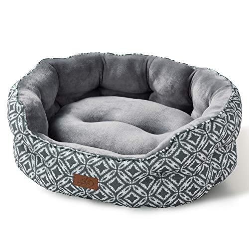 Bedsure 25 inch Small Dog Bed & Cat Bed, Round Pet Beds for Indoor Cats or Small...