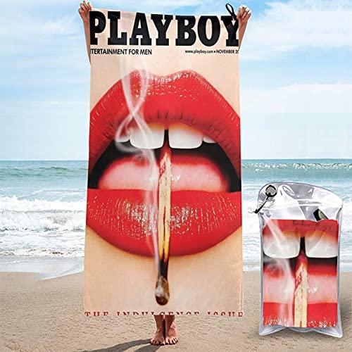 Playboy Toallas de bañoToalla de Playa Toallas de Microfibra Impresión 3D Toalla de Playa Toallas de Piscina de Gran tamaño de Secado rápido