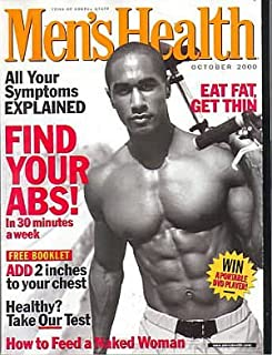 Men's Health Magazine - How to Feed a Naked Woman - Eat Fat Get Thin - Find Your Abs - All Your Symptoms Explained - Add 2 Inches to Your Chest (October, 2000)