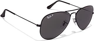 Ray Ban RB3025 Aviator Sunglasses Unisex (58 mm Black Frame Polarized Black Lens, 58 mm Black Frame Polarized Black Lens)