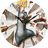 NR Ratatouille Welt Runde Wanduhr Wohnkultur Uhr