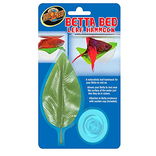 Zoo Med Floating betta leaf hammock small or large size (small betta leaf hammock bed)