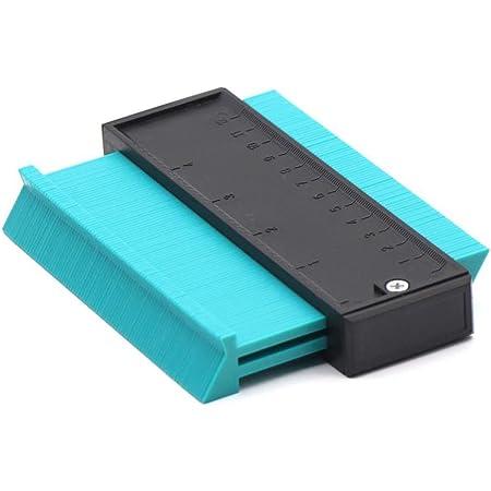 Makerfire Medidor de contorno de pl/ástico calibre de perfil de 10 pulgadas regla de medici/ón duplicador de contorno para medici/ón precisa herramienta de marcado de madera laminada-Rojo
