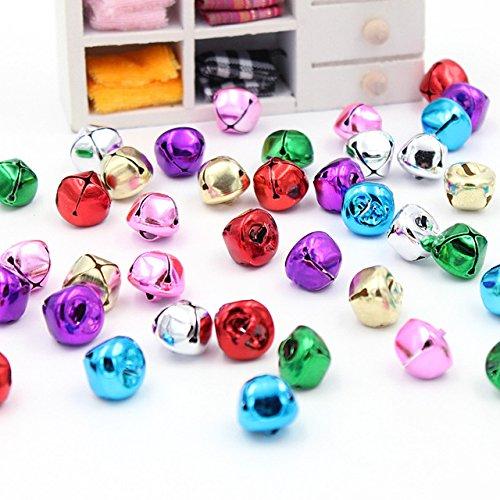 Topxome 20Pcs/Lot Mini Iron Loose Beads Jingle Bells Christmas Decoration Pendants DIY Crafts Handmade Accessories Size 141413mm (Random)