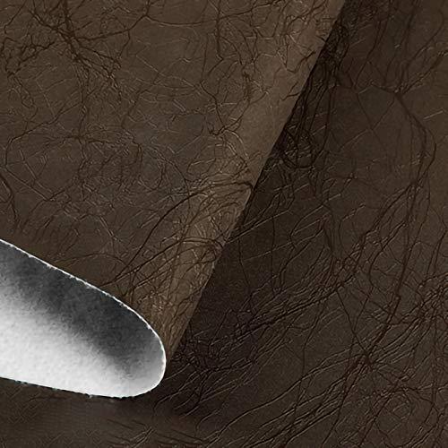 ZXC Venta De Polipiel por Metros Tejido De Piel SintéTica por Tapizar,Polipiel,Manualidades,Vinilo,Cojines o Forrar Objetos 138 cm de Ancho 1m Vendido por Metro(Color:Marron Oscuro)