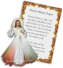 Divine Mercy Mini Pocket Prayer Laminated Card Iconic Image of Lord Jesus Christ Compact Gift