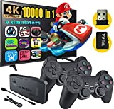 Fadist Retro Game Console, 4K HDMI HD Output Video Game Console, Built in 10000+ Classic Video Games, with 2 Wireless Controller, Plug and Play Games Console, Ideal Gift for Kids, Adult, Friend, Lover