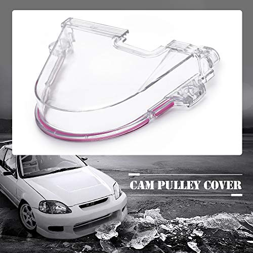 PQY Clear Cam Gear Timing Belt Cover Turbo Cam Pulley Compatible with Honda Civic 96-00 D15 D16