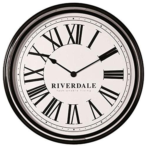 Riverdale · Metall-Wanduhr Time 68cm · schwarz weiß