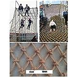 Rete da Arrampicata Made of Hemp Rope,Rete Porta Carico Massimo per Bambini Terreno di Gioco,Materiale di Iuta Naturale,16mm/15cm,Taglie Multiple (Size : 1x2m)