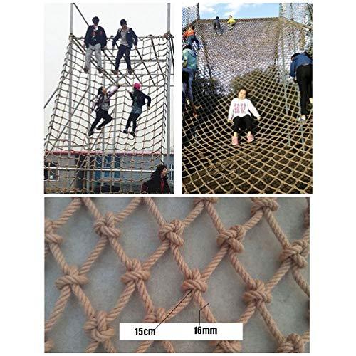 WWWANG Kletternetz aus Hanf Seil, bringt die maximale Belastung for den Kinderspielplatz, Natur Jute Material, 16mm / 15cm, mehr Größen (Size : 2x3m)