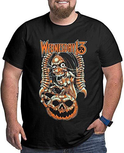 Fziee Herren T-Shirt mit 3D-Grafik von Wednesday 13, kurzärmelig, Rundhalsausschnitt Gr. 58, Schwarz